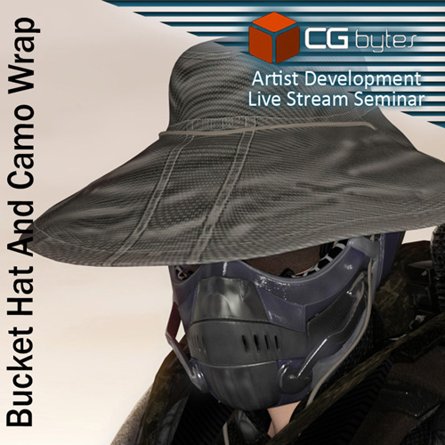 ArtDev DarkVoid Exploration Unit Bucket Hat And Camo Wrap