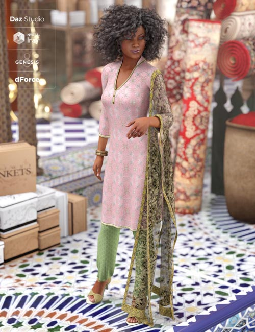 dForce Salwar Kameez for Genesis 8 Female(s)