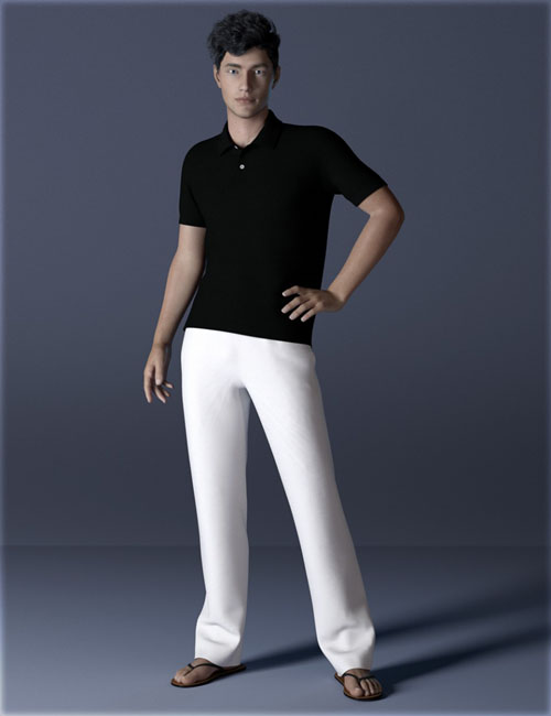 dForce H&C Polo Shirts Outfit for Genesis 8 Male(s)
