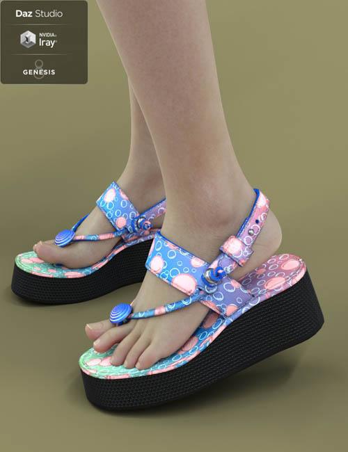 Jiwoo Sandals for Genesis 8 Female(s)