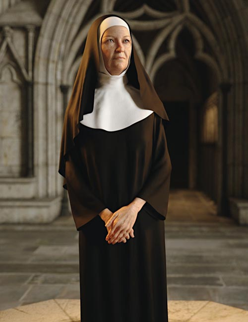 dForce Nun Costume for Genesis 8 Female(s)