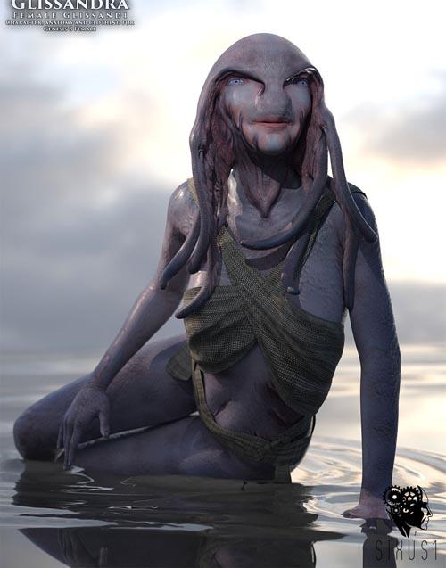 Glissandra Female Glissandi Character, anatomy and clothing for Genesis 8 Female
