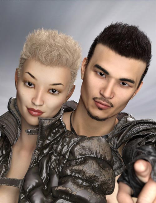 Casual Spikes Hair for Genesis 3 and 8