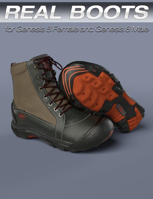 S3D Real Boots for Genesis 8