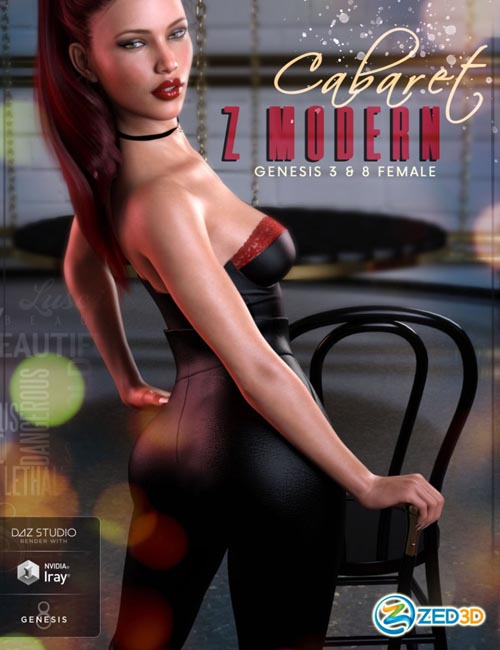 Z Modern Cabaret - Props and Poses for Genesis 3 and 8 Female