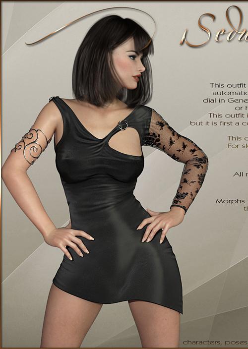 Seducing Dress for Genesis 8 Female