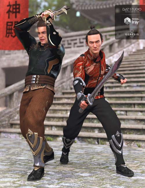 Eastern Fantasy Warrior Outfit Textures