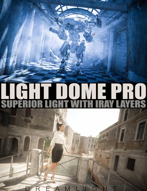 Light Dome PRO Iray - Superior Light With Layers