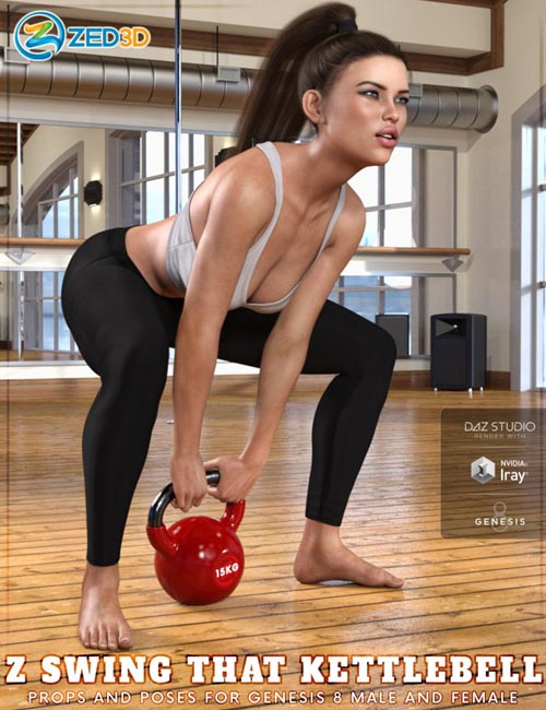 Z Swing That Kettlebell - Props and Poses for Genesis 8