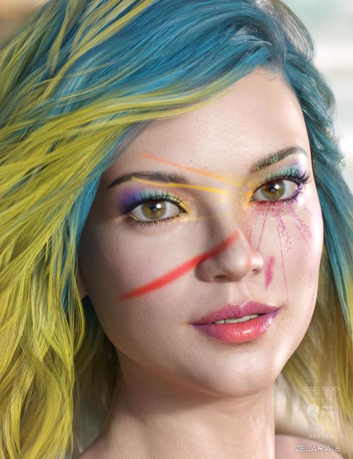 FLO Makeup for Genesis 8 Female(s)