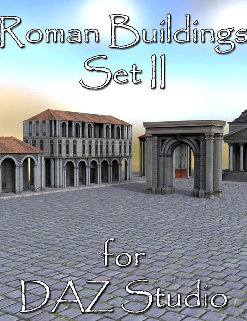 Roman Buildings Set II - DAZ Studio