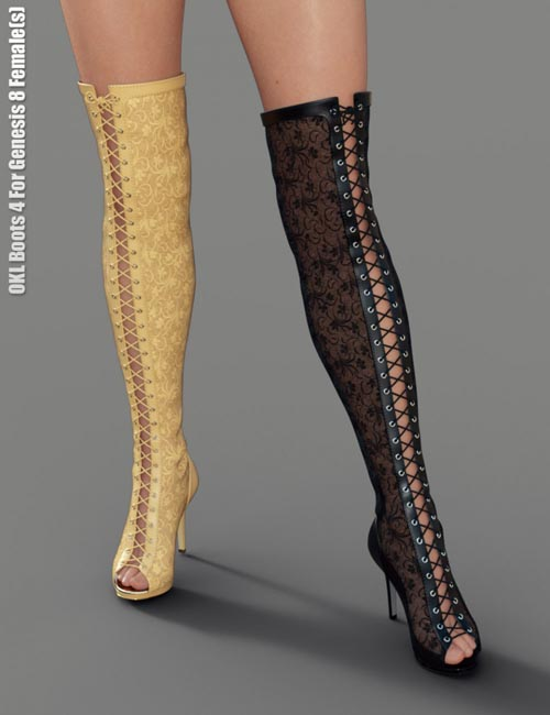 OKL Boots 4 for Genesis 8 Female(s)