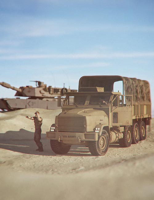 Military 1050 Truck and Troop Transport