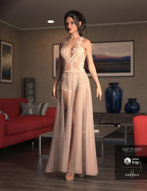 dForce Chantilly Chic Outfit for Genesis 8 Female(s)