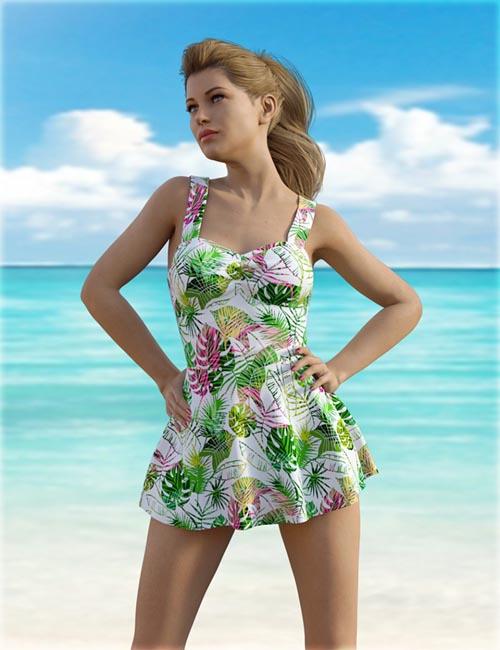 dForce H&C One Piece Swimsuit B for Genesis 8 Female(s)