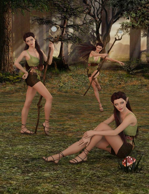 Woodland Grove Poses for Genesis 3 Female
