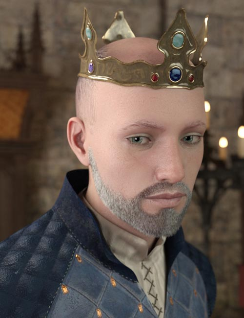 Medieval Crown for Genesis 8 Male