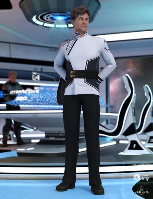 dForce Fleet Commander Outfit for Genesis 8 Male(s)