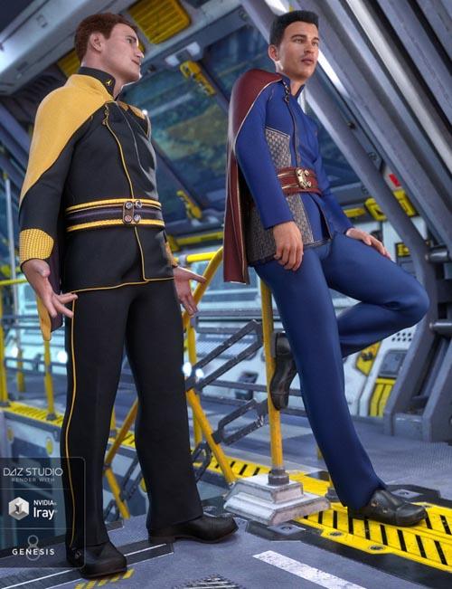 dForce Fleet Commander Outfit Textures