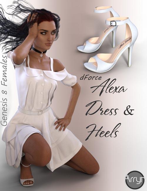 dForce Alexa Outfit for Genesis 8 Female(s)