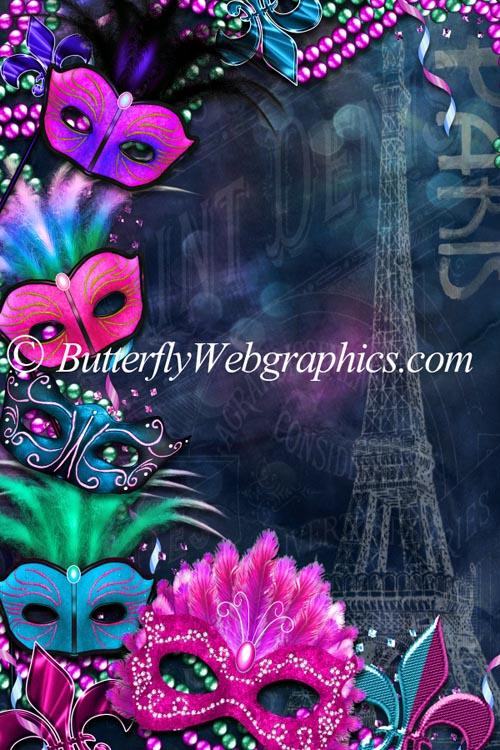 18 Mardi Gras stock images in the PNG format