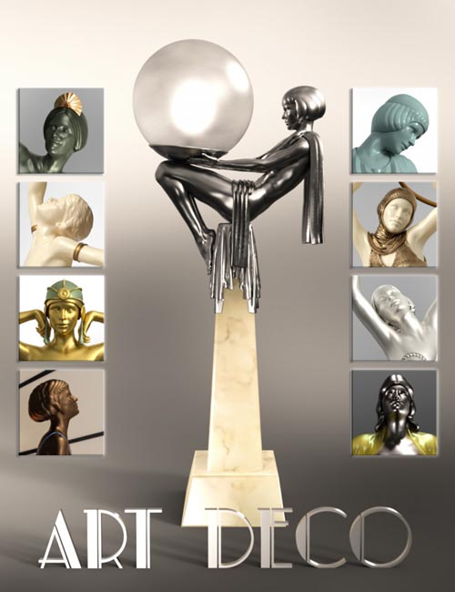 Jepe's Art Deco Statuettes II for Victoria 8