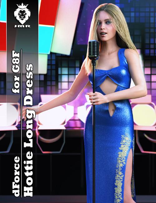 JMR dForce Hottie Long Dress for G8F