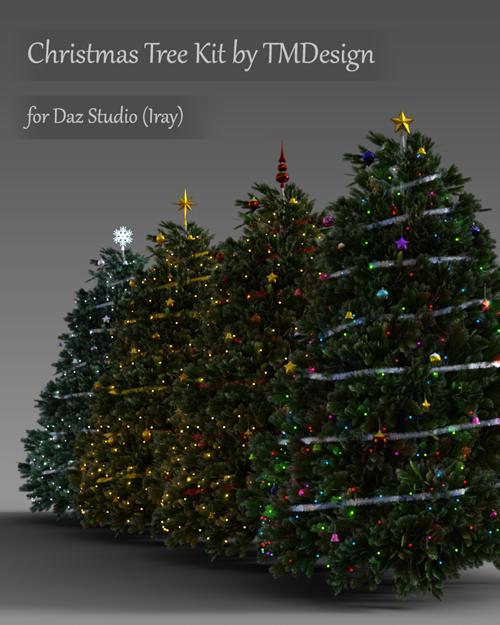 Christmas Tree Kit for Daz Studio Iray
