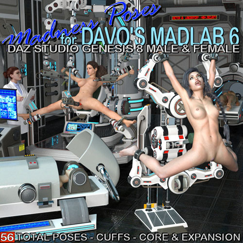Madness Poses For Davo's Madlab 6 Genesis 8 Male & Female