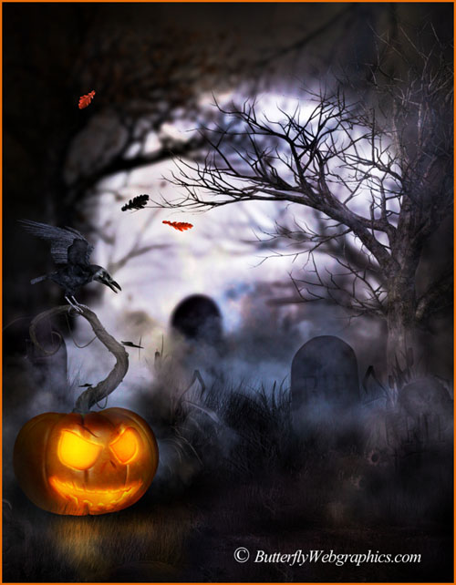 30 Halloween graphics in the PNG format