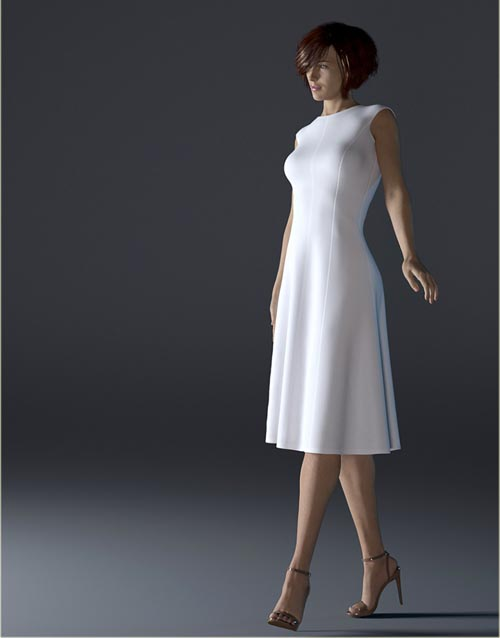 H&C dForce Simple Princess-line Outfit for Genesis 8 Female(s)