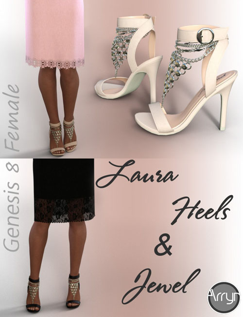 Laura Jewel Heels for Genesis 8 Female(s)