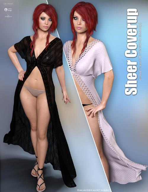 dForce Sheer Coverup for Genesis 8 Females