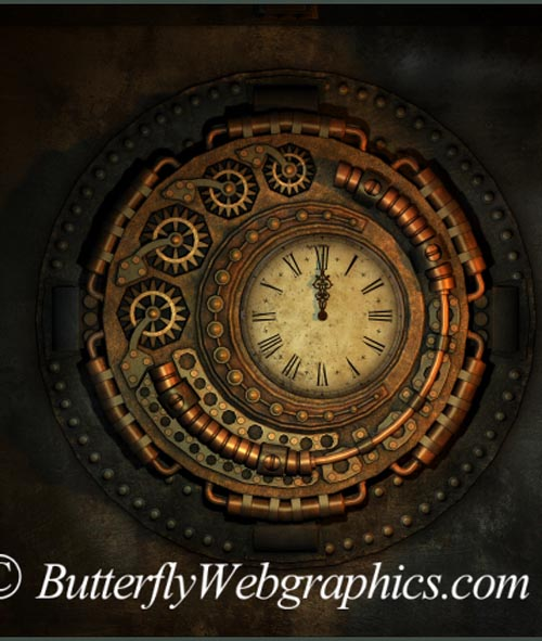 40 Steampunk stock images in the PNG format