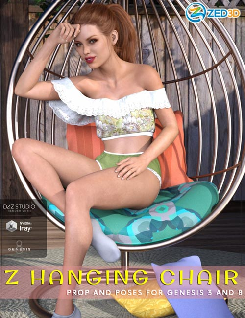 Z Hanging Chair - Prop and Poses for Genesis 3 and 8