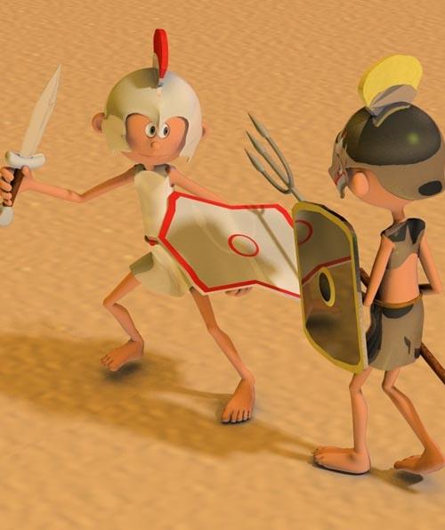 3DToons Roman Gladiator