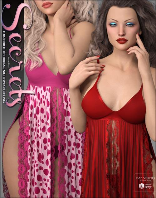Secrets for dForce Hot Dreams Nightwear G8F
