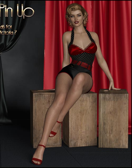 Pure 50's Pinup - Poses for Genesis 3 and 8 Females