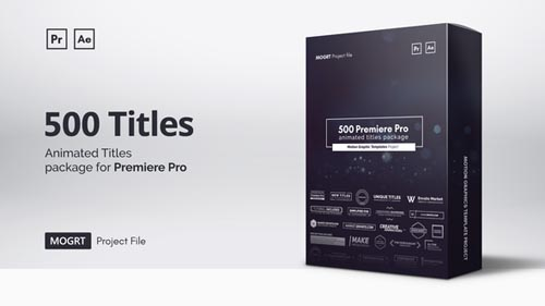 Videohive - Mogrt Titles - 500 Animated Titles for Premiere Pro & After Effects