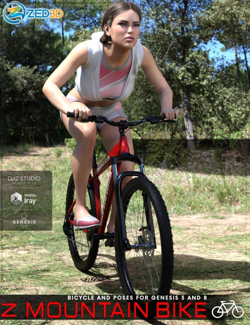 Z Mountain Bicycle and Poses for Genesis 3 and 8