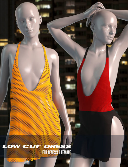 dForce Low Cut Dress for Genesis 8 Female