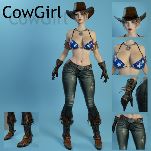 CowGirl for Genesis 3 Female
