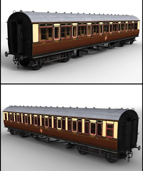 GWR Toplight passenger coach