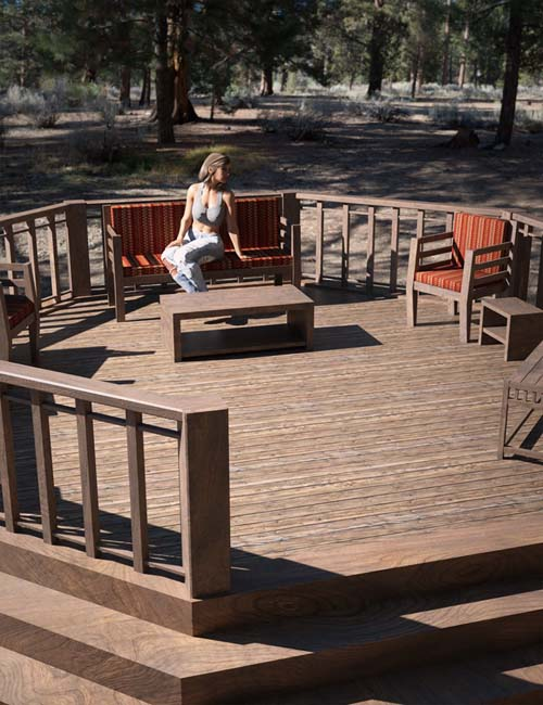 Deck and Furniture Set