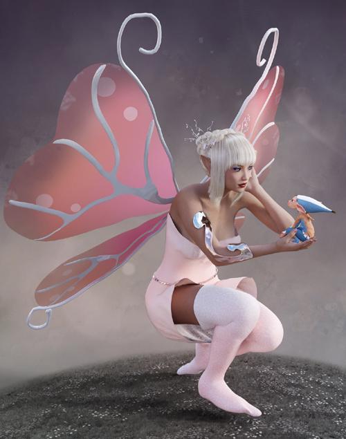 Aerjs Wings for Genesis 3 Female/V7 and Daz Studio 4.9