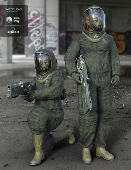 BioHazard Suit for Genesis 8 Expansion Pack