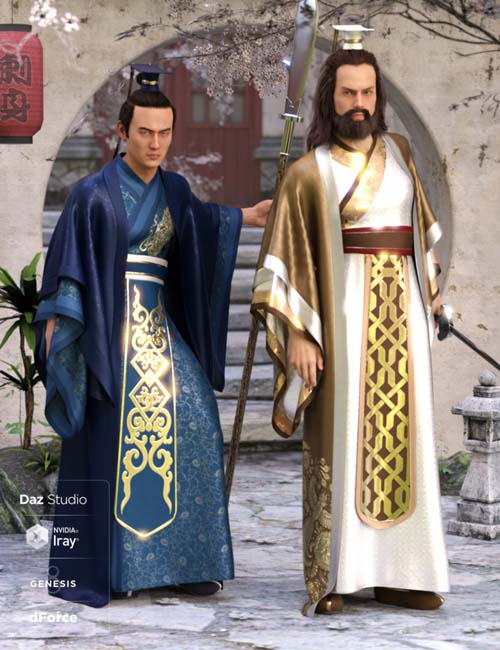 dForce Hanfu Outfit Textures