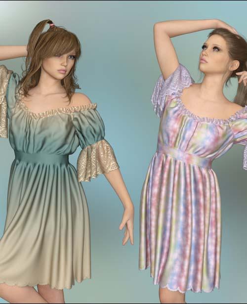 dForce - Little Darling Dress for G8F