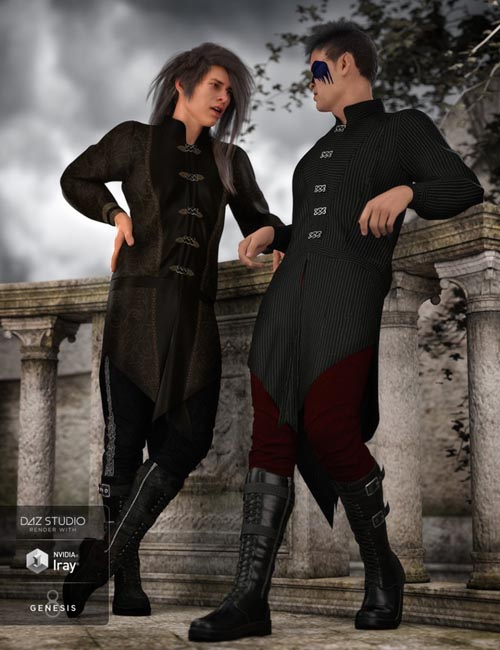 dForce Gothic Prince Outfit Textures