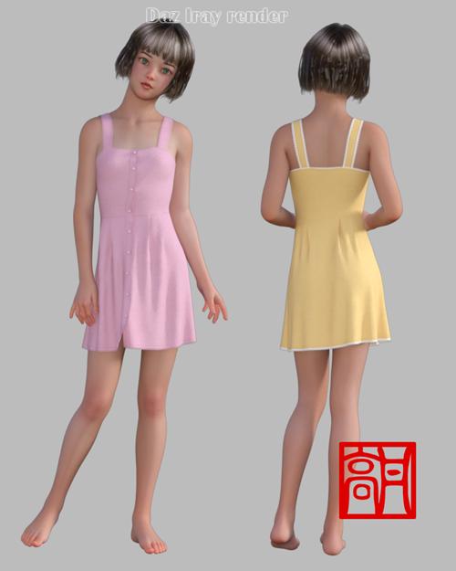dForce Summer Dress 1 for Genesis 8 Female